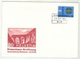Suisse // Schweiz // Switzerland //  1980-1989 // Lettre Et Cachet BLS, Ligne Bern-Lötschberg-Simplon - Switzerland