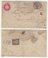 Suisse // Schweiz // Switzerland //  Entier Postaux // Entier Postal De Bramois à Champsec (document Avec Taches) - Ganzsachen