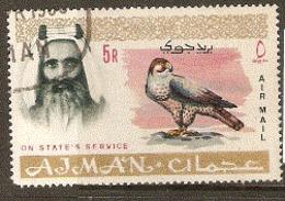 Ajman   1965  Lanner Falcon   Fine Used - Aigles & Rapaces Diurnes