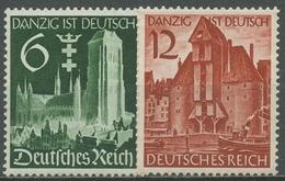 Deutsches Reich 1939 Wiedereingliederung Von Danzig 714/15 Postfrisch - Unused Stamps