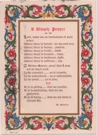 Cartolina Con Preghiera In Inglese Di San Francesco. Viaggiata 1963 Annullo A Targhetta Non Attardatevi A Inviare I ... - Saints