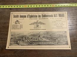 1927 PUBLICITE ETABLISSEMENTS ALEX DOUAUD VANNES ARMORICA CALF - Vieux Papiers