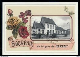 HERENT    ...  2 Cartes Souvenirs Gare ... Train  Creations Modernes Série Limitée - Vilvoorde