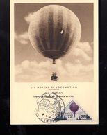 """MONACO 1956 Carte Maximum """" LES MOYENS DE LOCOMOTION : LE BALLON """". N° YT 465 Voir Le Scan. Parfait état. CM - Maximum Cards"""