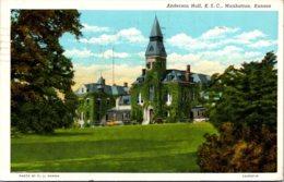 Kansas Manhattan Anderson Hall Kentucky State College 1950 Curteich - Manhattan