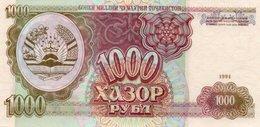 TAJIKISTAN=1994    1000  RUBLES     P-9      UNC - Tadzjikistan