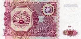 TAJIKISTAN=1994    500  RUBLES     P-8      UNC - Tadzjikistan