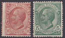 ITALIA - 1906 - Serie Completa Nuova MNH: Yvert 76/77; Due Valori. - 1900-44 Victor Emmanuel III.