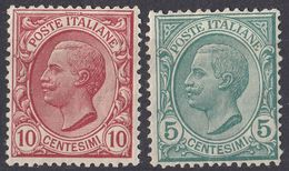 ITALIA - 1906 - Serie Completa Nuova Non Linguellata Di Seconda Scelta: Yvert 76/77. - 1900-44 Victor Emmanuel III.