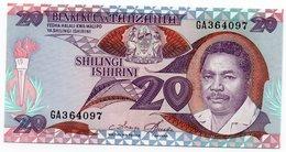 TANZANIA=N/D    20  SHILINGI     P-15      UNC - Tanzania