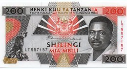 TANZANIA=N/D    200  SHILINGI     P-25a      UNC - Tanzanie