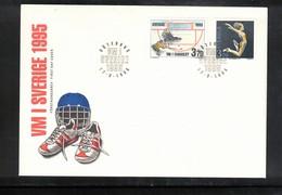 Sweden Hockey 1995 World Championship FDC - Hockey (Ice)