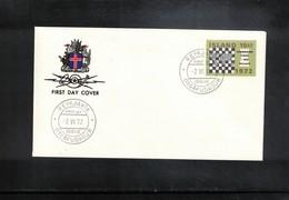 Island 1972 Chess FDC - Schach