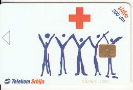 SERBIA - Serbian Red Cross, Telecom Srbija 300 Din, Error(chip At The Right Side And CN At Bottom Inverted), 05/04, Used - Jugoslavia