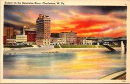 West Virginia Charleston Sunset On The Kanawha River - Charleston