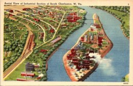 West Virginia South Charleston Aerial View Of Industrial Section - Charleston