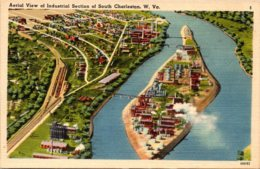 West Virginia Charleston Aerial View Of Industrial Section - Charleston