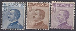 ITALIA - 1906/1908 - Lotto Composto Da 3valori Nuovi MH: Yvert 79/81. - 1900-44 Victor Emmanuel III.