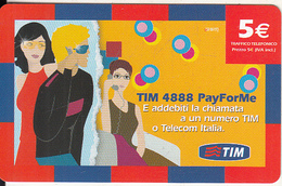 ITALY - TIM Prepaid Card 5 Euro,CN : 0123456789,  Exp.date 11/09, Sample - Italie