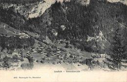 Switzerland Isenfluh Generalansicht Village Aerial View Postcard - Suisse
