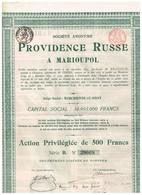 Action Ancienne - Providence Russe à Marioupol - Titre De 1905 - - Industrial