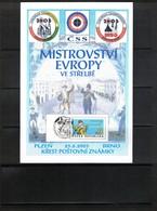 Czech Republic 2003 European Shooting Championship Interesting Leaflet - Tir (Armes)