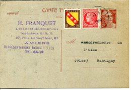 60290 RANTIGNY - Lot De 3 CPSM - Correspondance Commerciale Chaudronnerie De L'Oise - Entier Postal Marianne 1948 - Rantigny
