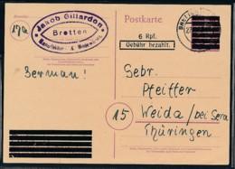 Franz.-Zone Ganzsache Bedarf. ....   (op2494   ) Siehe Scan - Zona Francesa