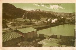 Algérie. CPA. PHILIPPEVILLE.  Un Coin Du Port. Grue, Usines.  1931. - Skikda (Philippeville)