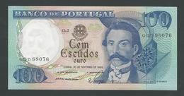 PORTUGAL  100  ESCUDOS 1965  UNC - Portugal