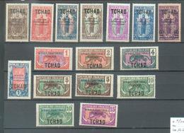 TCHAD 102  - YT 19-20-21-22-23-23a-24-26-27-28-29-30-31-32-34  */** - Tchad (1922-1936)