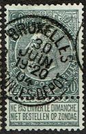 63  Obl   BXL  Quitances Dépôt - 1893-1900 Schmaler Bart