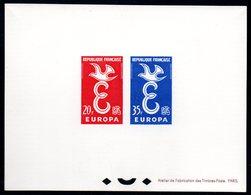 Epreuve Collective YT N° 1173 - 1174 - Cote: 400 € - Europa 1958 - Luxury Proofs