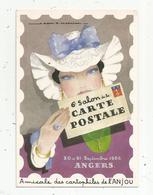 Cp, Bourses & Salons De Collections, 6 E Salon De La Carte Postale , ANGERS , 1986 ,illustrateur A. Mercier - Bourses & Salons De Collections