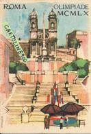 Lazio Roma Olimpiade Mcmlx 1960 Cards Doppia Trinata Dei Monti Piazza Di Spagna Pubblicita Giochi(vedere Le 4 Scansioni) - Jeux Olympiques