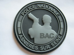 ECUSSON PVC POLICE NATIONALE LA BAC NUIT ASNIERES SUR SEINE ETAT EXCELLENT SUR VELCROS - Police