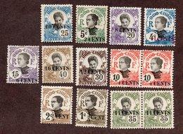 Indochine N°72/82,81a,76a N* TB  Cote 76 Euros !!! - Unused Stamps