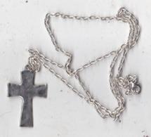 Petite Croix Avec Chaine Plaqué Argent - Religion & Esotérisme