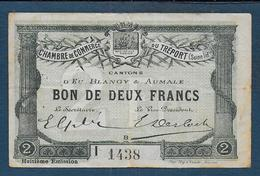 Chambre De Commerce Du TREPORT - Billet De 2 Francs - Chambre De Commerce