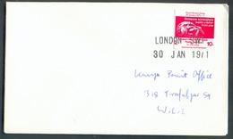 Vignette Anglaise Postage Postal Workers Strike 20 Jan. 1971 Robert Norfolks Private Postal Service 2/- 10p.  Annulé Par - 1952-.... (Elizabeth II)