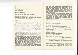 DP 9361 - MARIA KINDT - STUBBE - ZANDE 1904 + KEIEM 1981 - Santini