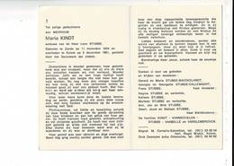 DP 9361 - MARIA KINDT - STUBBE - ZANDE 1904 + KEIEM 1981 - Images Religieuses