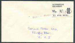 Vignette Anglaise ALTERNATIVE DELIVERIES 01 658 0291 10p. 2/-  Annulé Par La Griffe Violette Numbers EXPRESS SERVICE On - 1952-.... (Elizabeth II)