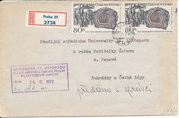 Czechoslovakia Registered Cover Praha 11-2-1972 - Covers & Documents