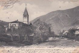 Eglise De BAÏGORRY (64) Rue De La Mairie Et Pont De La Mitchelené - Francia