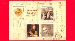 Nuovo - MNH - ITALIA - 2019 - 500 Anni Della Morte Di Leonardo Da Vinci - Codice Arundel - BF - 6. 1946-.. Repubblica