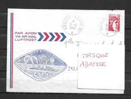 Escorteur D'escadre DUPETIT THOUARS - Mission ZMOI -TàD BUREAU NAVAL 81 12/06/80 - Storia Postale