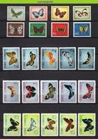 Mhd129b 2 Scans FAUNA VLINDERS * SMALL ASSORTMENT * BUTTERFLIES SCHMETTERLINGE MARIPOSAS PAPILLONS ONG/MH # - Butterflies