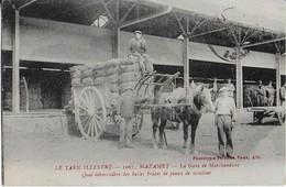 MAZAMET  :(Tarn Illustré ) La Gare De Marchandises- Quai Débarcadère De Balles Brutes De Peaux De Moutons - Mazamet