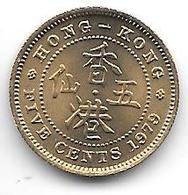 * HONG KONG 5 Cents  1979 Km 29.3  Bu !!!!! - Hongkong
